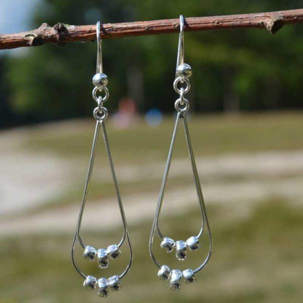 Zilveren oorbellen Delta