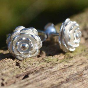 Zilveren oorbellen Rosa