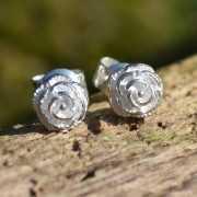 Zilveren oorbellen Roosje