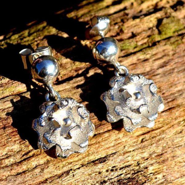 Zilveren oorbellen Bonita