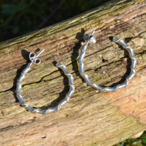 Zilveren oorbellen Twister