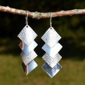 Zilveren oorbellen Fina