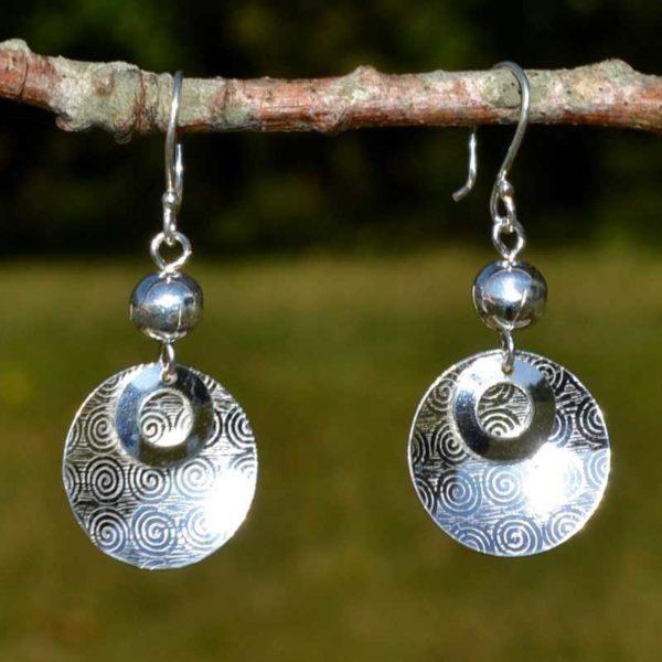 Zilveren oorbellen Nazca