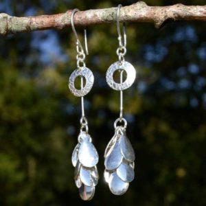 Zilveren oorbellen 012130