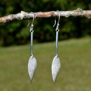 Zilveren oorbellen Druppel