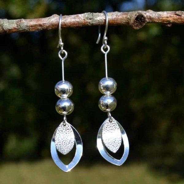 Zilveren oorbellen Aria