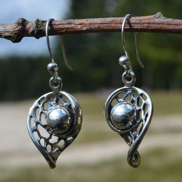 Zilveren oorbellen Leah