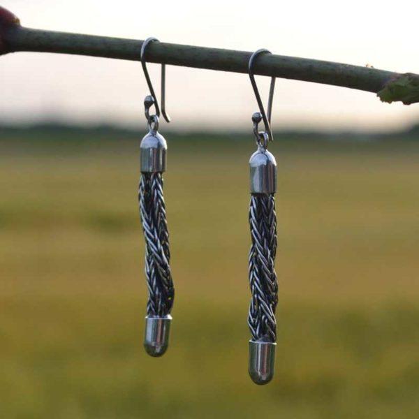 Zilveren oorbellen Tess