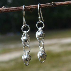 Zilveren oorbellen Frida