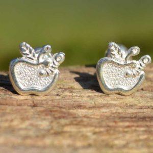 Zilveren oorbellen Appel