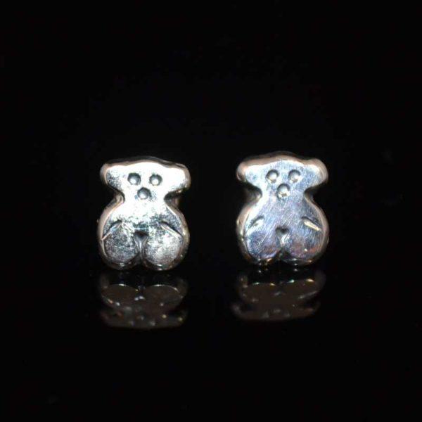Zilveren oorstekers Beertjes