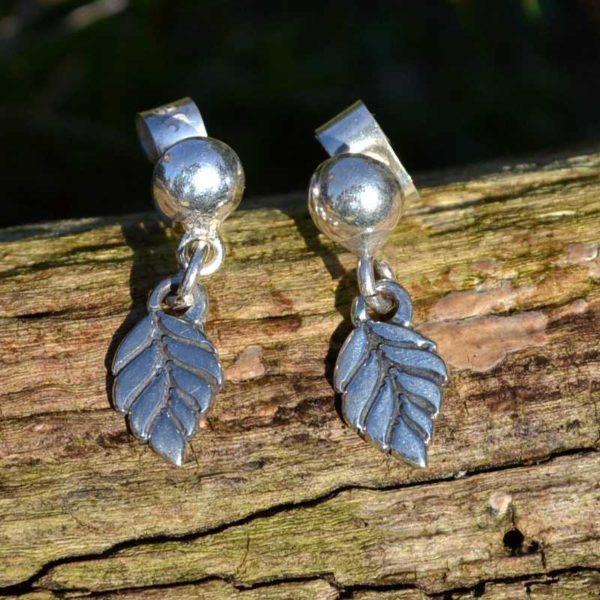 Zilveren oorbellen Blaadjes