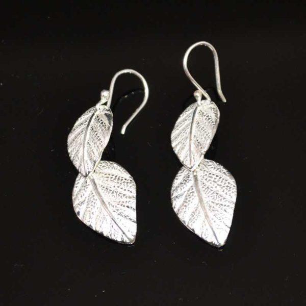 Zilveren oorbellen Bladeren