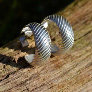 Zilveren creolen Mini Luna