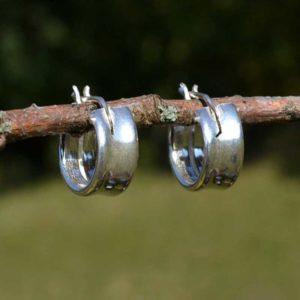 Zilveren creolen Petit
