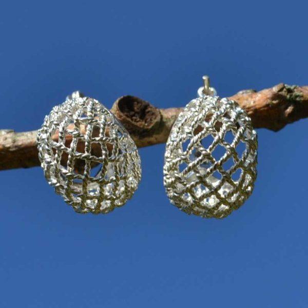 Zilveren oorbellen Shine
