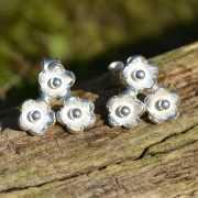 Zilveren oorbellen Bloemetjes 2
