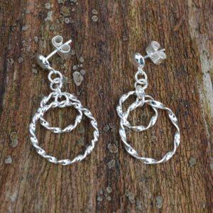 Zilveren oorbellen Glossy