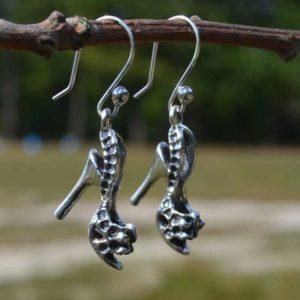 Zilveren oorbellen Hoge Hakken 2