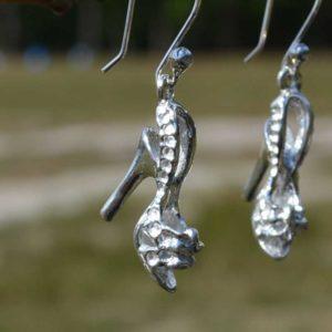 Zilveren oorbellen Hoge Hakken