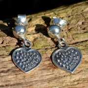 Zilveren oorbellen Coeur