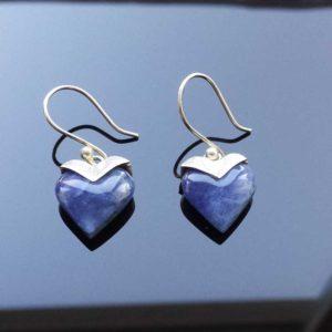 Zilveren oorbellen Hart