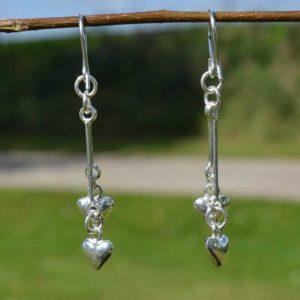 Zilveren oorbellen Hartjes
