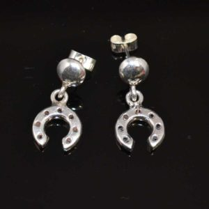 Zilveren oorbellen Hoefijzer
