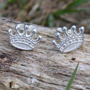 Zilveren oorbellen Kroon