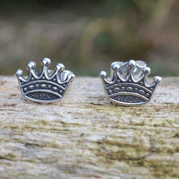 Zilveren oorbellen Kroon 2