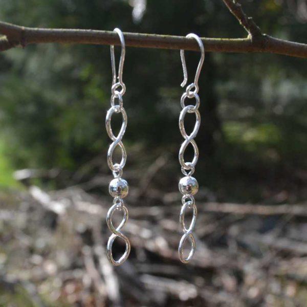 Zilveren oorbellen Linea