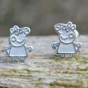 Zilveren oorstekers Peppa Pig 3