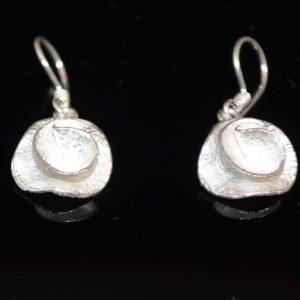 Zilveren oorbellen Roos I