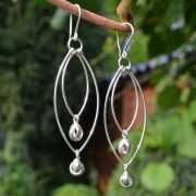 Zilveren oorbellen Estilo