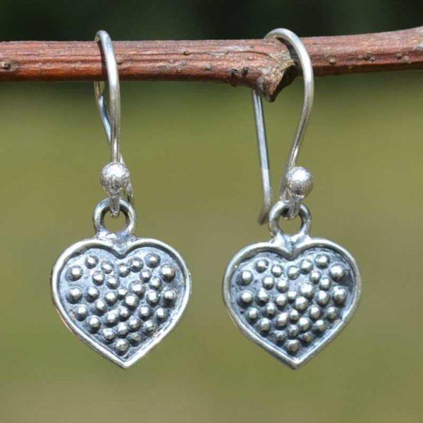 Zilveren oorbellen Amor