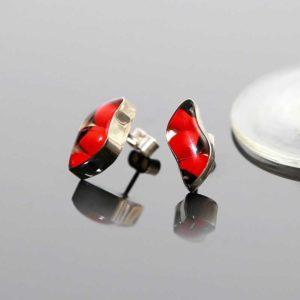 Zilveren oorstekers Huayruro I