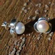 Zilveren oorstekers Perla 2