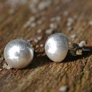 Zilveren oorstekers Knopjes I