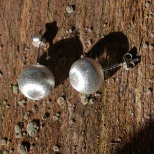 Zilveren oorstekers Matte