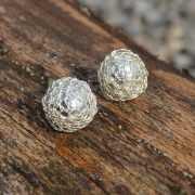 Zilveren oorknopjes Button II