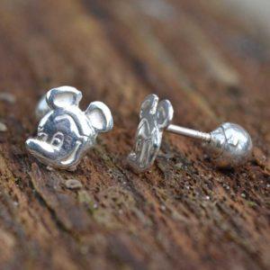 Zilveren oorstekers Mickey Mouse