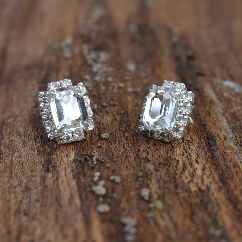 Zilveren oorstekers Queen II