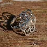 Zilveren ring Mandala 2