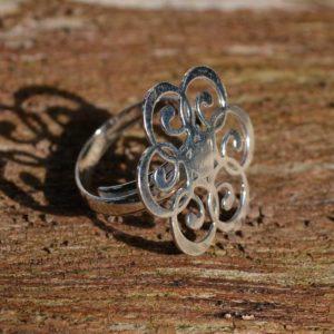 Zilveren ring Mandala