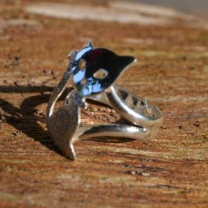 Zilveren ring Kat