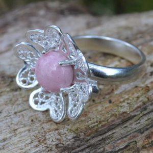 Zilveren ring Filigraan Bloem I