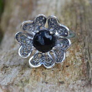 Zilveren ring Filigraan Bloem VI