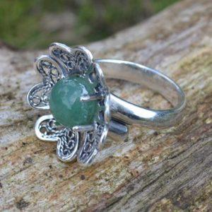 Zilveren ring Filigraan Bloem III