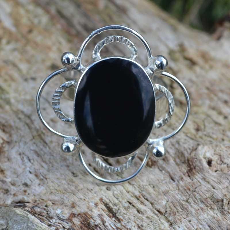 Zilveren ring Queen II