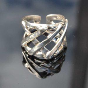 Zilveren ring Zeus